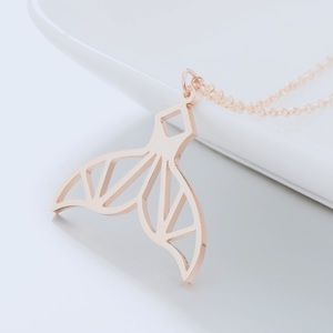 Rose Gold Mermaid Tail Necklace
